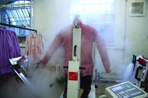 The D.S.DUNDEE shirt gets the steam treatment